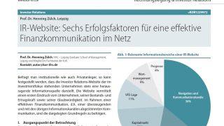 IR-Website: Sechs Erfolgsfaktoren für eine effektive Finanzkommunikation im Netz