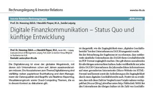 Digitale Finanzkommunikation - Status Quo und künftige Entwicklung