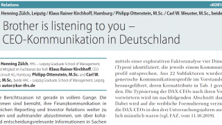 Big Brother is listening to you - die CEO-Kommunikation in Deutschland