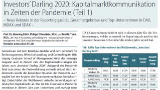 Investors' Darling 2020: Kapitalmarktkommunikation in Zeiten der Pandemie (Teil 1)
